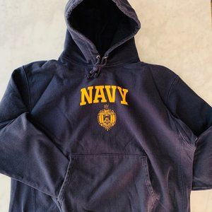 Champion NAVY 2XL Hoodie Pullover Oversized Cotton